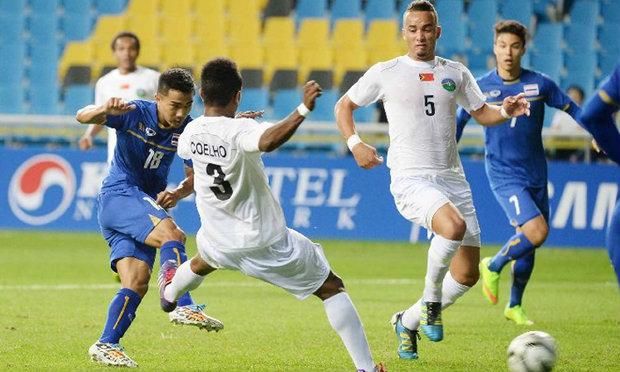 แข้งไทย อัดติมอร์ฯ3-0 นัดสุดท้ายบู๊อินโดฯ ชี้ชะตาแชมป์กลุ่ม