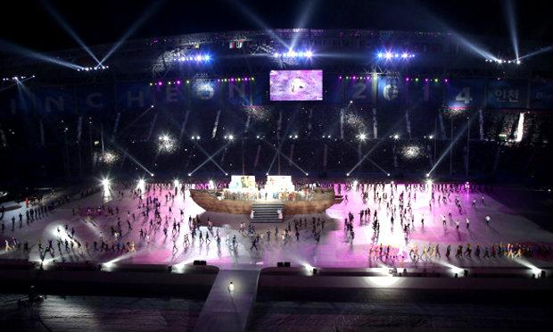 เกาหลีใต้ จัดพิธีเปิด เอเชี่ยนเกมส์ สุดอลังการ