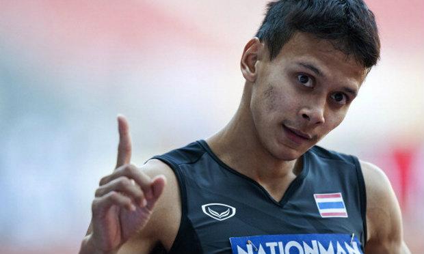 """""""มิ้ว"""" จิระพงศ์ ลุ้นชิงวิ่ง 100 เมตรชาย หลังสถิติเยี่ยม"""