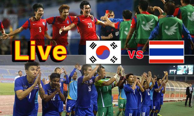 """ร่วมเชียร์ที่นี่! ถ่ายทอดสดฟุตบอลเอเชียนเกมส์ รอบรองชนะเลิศ """"เกาหลีใต้-ไทย"""""""