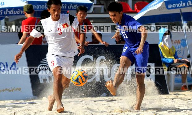 บอลชายหาดช้างศึกยังแกร่งเบียดชนะเวียดนาม5-4