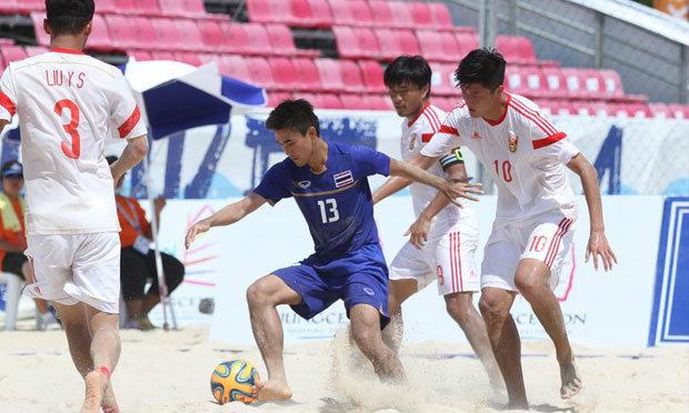 บีชบอลปิดท้ายไทยชนะจีน3-2 จบที่7ภูเก็ต2014