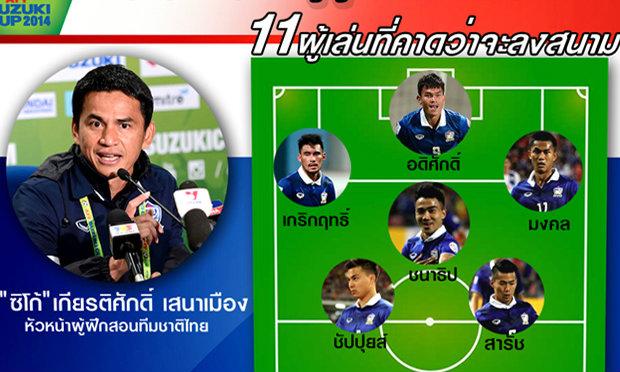 โผ11คนแรกไทย ที่คาดว่าลงโซ้ยมาเลย์วันนี้