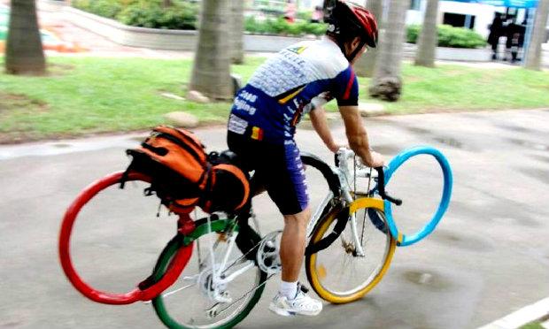 สุดๆ! หนุ่มจีนผลิตจักรยาน ลายห่วงโอลิมปิก (ภาพ)