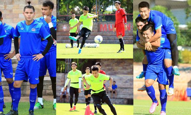 ประมวลภาพทีมชาติไทยซ้อม เช้า-เย็น 25-08-2015