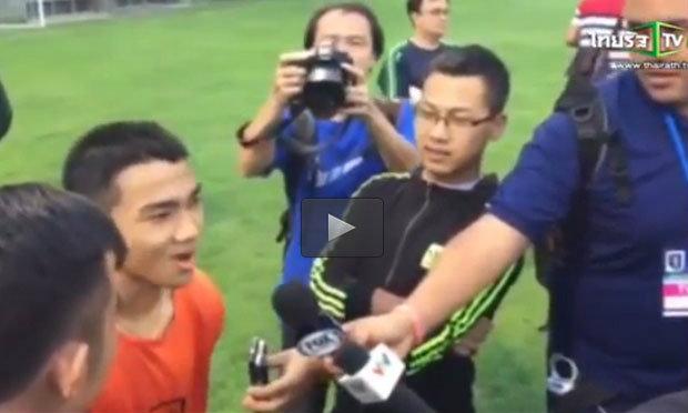 """มาฟัง """"ชนาธิป"""" สปีคอิงลิช เมื่อนักข่าวเวียดนามถามกดดันมั๊ยกับคำว่า """"เมสซี่เจ"""" ?"""