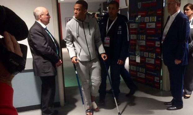 ข่าวร้ายผี! มาร์กซิยาล เจ็บข้อเท้าจากเกมทีมชาติ