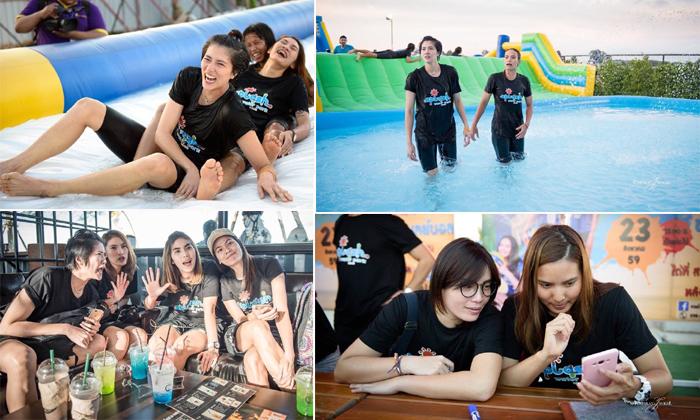 """ขอพักแปป! ภาพสุดเอ็กซ์คลูซีฟ """"ลูกยางสาวไทย"""" เล่นสวนน้ำที่อุบลฯ (อัลบั้ม)"""
