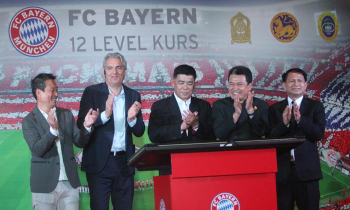 """""""สปอร์ต ไทย-บาวาเรีย"""" จับมือ """"บาเยิร์น มิวนิค"""" นำหลักสูตรพัฒนาทักษะฟุตบอล 12 ระดับสู่เด็กไทย"""