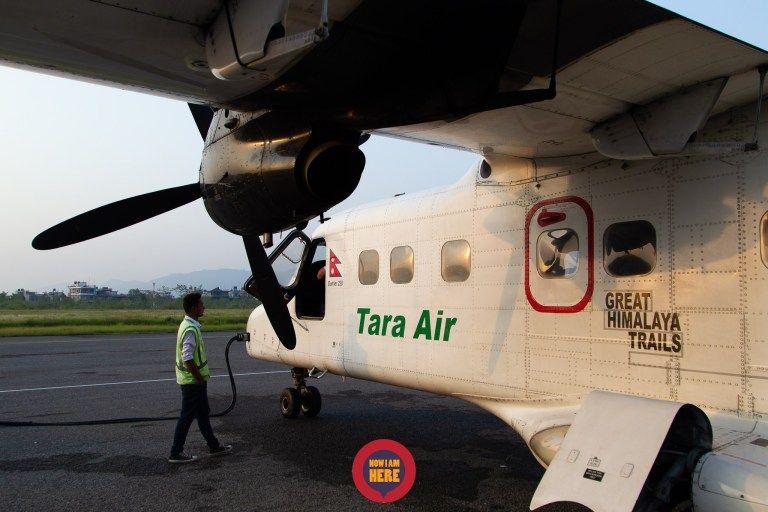 เครื่องบินแบบใบพัดขนาด16ที่นั่ง แยกซ้าย-ขวาอย่างละ 1แถว กัปตันและผู้ช่วย 2คน แอร์ 1 คน