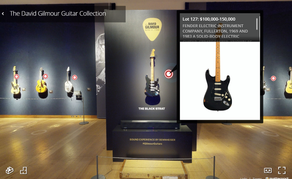 กีตาร์ประมูลกว่า 120 ตัวของ David Gilmour เปิดให้ชมแบบ 3D ผ่านเว็บไซต์แล้ว